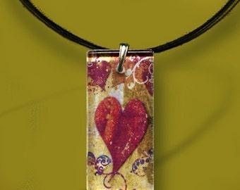 LOVE Rocks Necklace - GeoForms-Reversible Glass