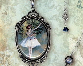 Dancer Necklace - Glass Frame - Vintage Paris Fashion - Art Masters Collection - La Danseuse Deux