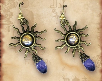 Radiant Sun Earrings - Symbolz Collection - The Ancient Mysteries Collection -Star Power Dangle  Earrings