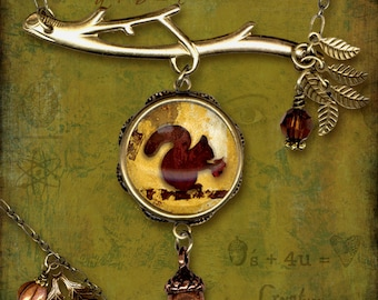 Little Squirrel Necklace - Cryptyx Symbolz Collection - Nutz 4 U