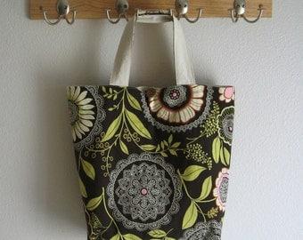 Roll Up Market Bag - Lacework in Olive