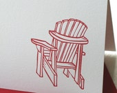 Adirondack Chair Note Card (Letterpress)