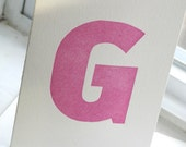 Letter G Wood Type Stationery (set of 6)