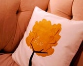 Falling in Love Tree Pillow Cover in Mustard