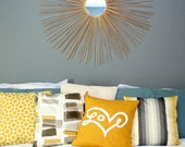 Love Pillow Cover in Mustard