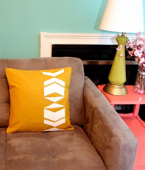 Chevron Applique Pillow Cover