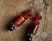 crimson drop earrings