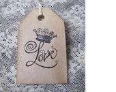 Treasury Item 10 Crowned Love Tags