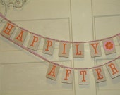 Happily Ever After Wedding Banner photo props garland customized for you