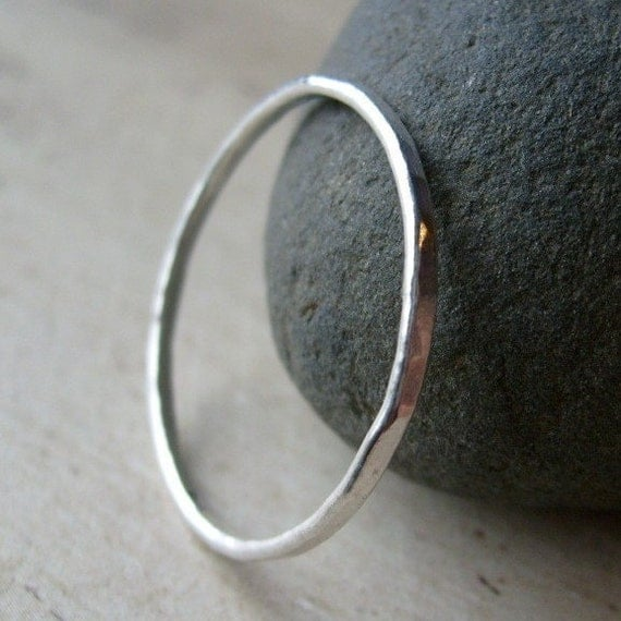 FINE AND FUSED - A Single Fine Silver Stackable Ring