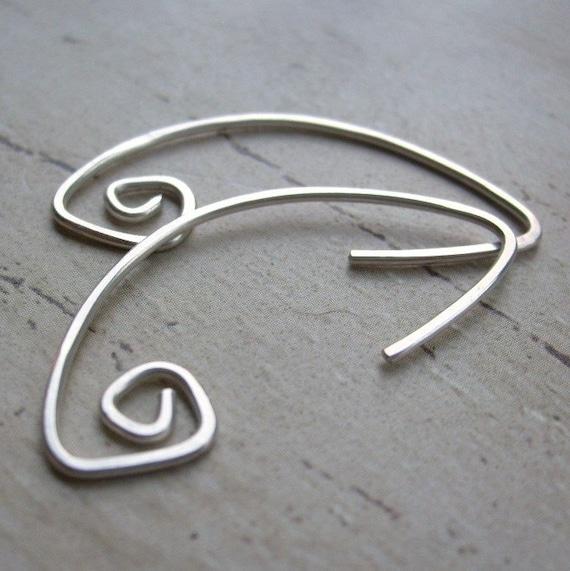 FUNKY - Sterling Silver Spiral Earrings