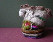 Improvisation ... Freeform Crochet Cuff