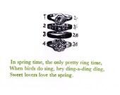 Spring Time letterpress print