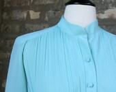 Vintage Teal Secretary Dress
