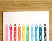 SALE - Crayon Note Set