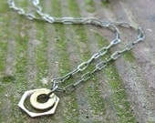 Recycled Hard Drive Washer Necklace