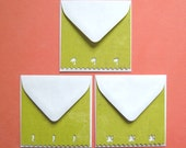 CLEARANCE - Three Tropical Friends - Three Inch Flat Note Cards and Envelopes