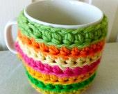 citrus cup cozy multicolor crochet