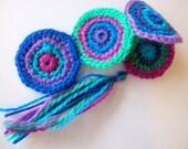 crochet bookmark ocean mandalas