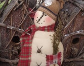 SALE  Epattern - Primitive Folkart Sheldon Snowman Cupboard Tuck