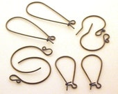 Handmade Oxidized Sterling Ear Wires Variety Pack