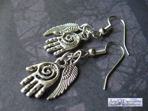 Supernatural The Hand of Castiel Earrings