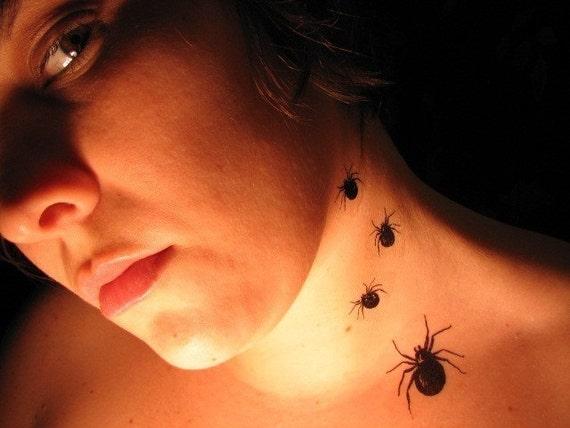 SPIDER Temporary Tattoos (Set of 5)