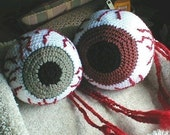 Crochet Bloodshot Eyeball Hackey Sack Pattern