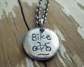 petite bike necklace