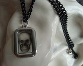 See-through Skull Picture Charm Necklace