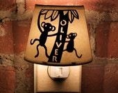 Monkeying Around - Personalized Papercut Night Light