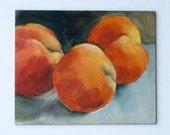Oil Painting Peaches Still Life 1