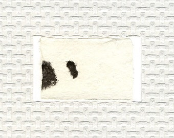 Minimalist Textured Art // ooak /  greeting card / gelatin print