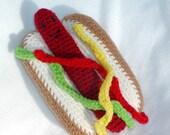 Crochet Hot Dog---PDF--PATTERN