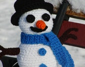 Crocheted Build your own Snowman Kit---PDF--PATTERN