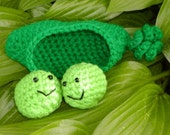 Crocheted Amigurumi 2 Peas in a Pod----PDF--PATTERN