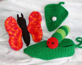 Crocheted Growing Butterfly-----PDF--PATTERN