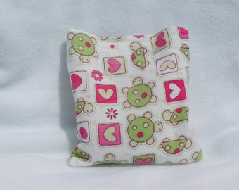 Boo boo pack- hot/cold therapy rice bag-removable cover- turtle/hearts