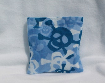 Boo boo pack- hot/cold therapy rice bag- removable cover-skulls