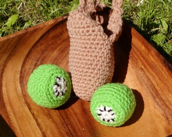 Crocheted Peelable Kiwi Amigurumi---PDF--PATTERN