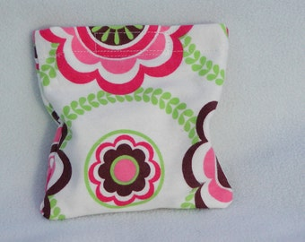 Boo boo pack- hot/cold therapy bag-removeable cover- Flower circles