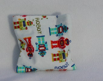 Boo boo pack- hot/cold therapy bag-removeable cover- Robots