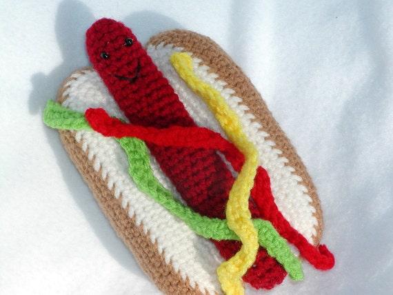 Free Crochet Hot Dog Pattern : Crochet Hot DogPDFPATTERN