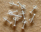925 Sterling Silver PAD Earring Posts and Earring Backs (4mm.) - 300 Pairs (600 Pieces)...Reserved for Marta