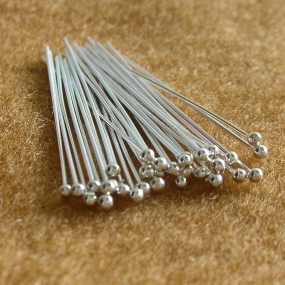 925 Sterling Silver BALL HEADPINS 21 Gauge 40 mm.  - 90 Pieces...Reserved for Yumi