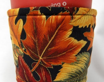 Coffee Cozy, Cup Sleeve, Eco Friendly, Slip-on, Teacher Appreciation, Co-worker Gift Bulk Discount: Fall Leaves