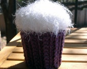 Purple and White Cupcake Container