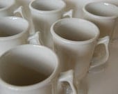 Footed Pedestal Mug, Set of 4