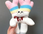 Reginald, A Sock Zombie with Fuzzy Striped Toehorns