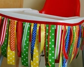 Bright Ribbon High Chair Banner